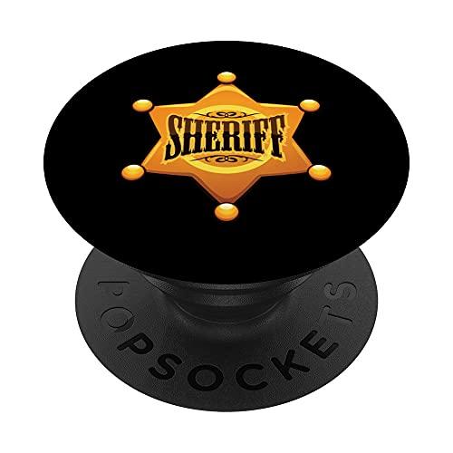 Sceriffo ispirato sceriffo distintivo relativo sceriffo cost PopSockets PopGrip Intercambiabile