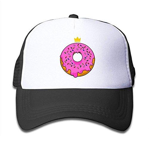 JIMSTRES Pink Doughnut Mesh Baseball Cap Kid Boys Girls Adjustable Golf Trucker Hat