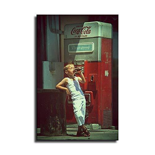 Vintage-Poster mit Cocacola-Boy-Motiv, Kunstdruck auf Leinwand, modernes Design, Schlafzimmer