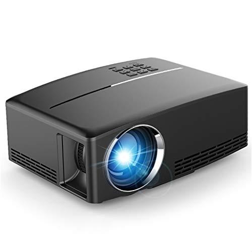 Proyector Mini proyector de alta definición y Hogar al aire libre del proyector de película de la ayuda 1080P Pantalla 30000hrs, compatible w / Fuego TV Stick, PS4,...
