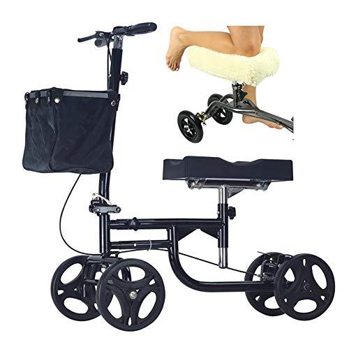 HZYWL Rodillo De Rodilla Orientable Andador De Rodilla Scooter Muleta Alternativa Plegable Portátil Comodidad Fractura para Caminar Andador De Rodilla