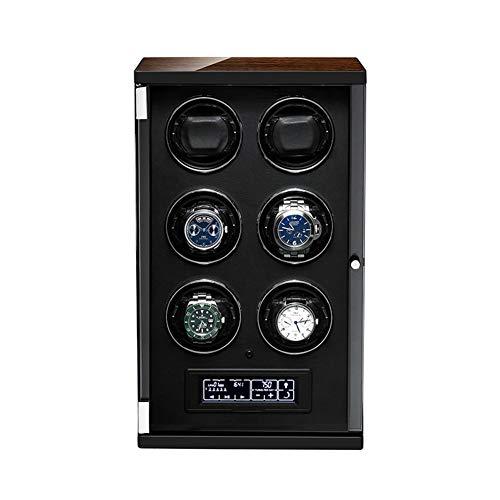 ZNND Watch Caja Relojes Automaticos,15 Modos De Rotación,Watch Winder para Mujer para Hombre Caja De Almacenamiento De Rotación De Relojes con Motor Silencioso (Size : 6+0)