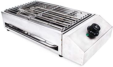 Electric Grill, 110V 2800W 54x28x13CM Stainless Steel Electric Indoor Searing Grill Party Grill Electric BBQ Grill Electric Cooking Grill, Electric Smokeless Barbecue Oven Grill for BBQ Equipment