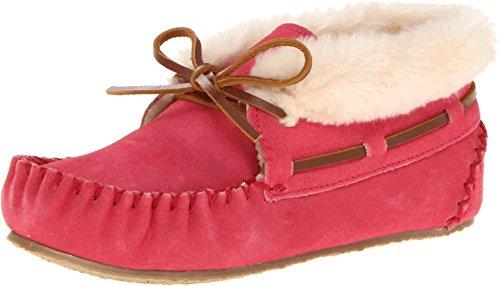 Rio Grande Arts & Crafts Minnetonka Mädchen Charley Bootie Kurzschaft Mokassin Stiefel, Pink (Hot Pink), 25/26 EU