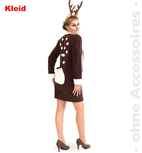Party-Chic 13562 Damen Kostüm REH-Kleid-Gr. 38