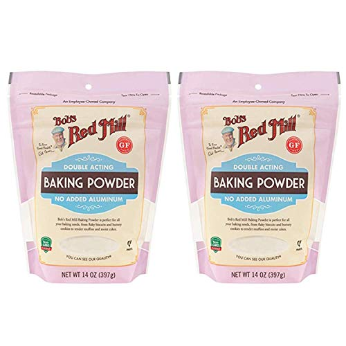 Bob's Red Mill Baking Powder 14 oz (2 Pack) - Double Acting Baking Powder - No Added Aluminum - Baking Powder Double Pack ( 14 oz each, 28 oz total)