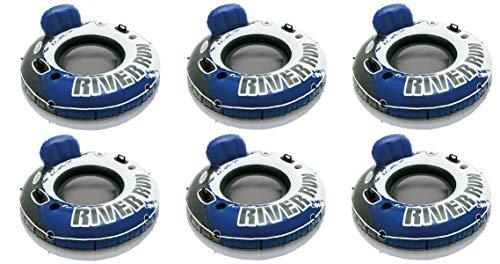 Intex River Run 1 Inflatable Floating Tube Raft for Lake River Pool 6 Pack