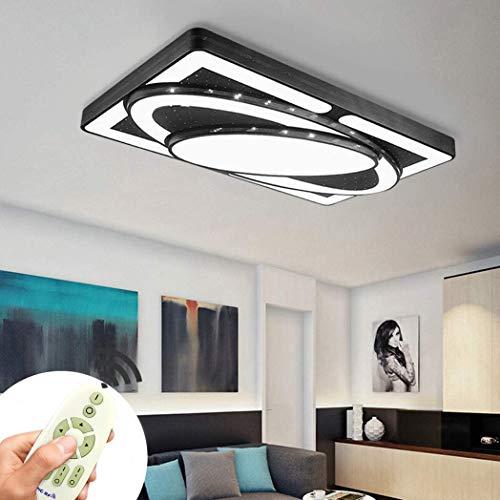 DIWIWON 78W Deckenleuchte Led Lampe Deckenlampe Schlafzimmer Deckenleuchte Badezimmer Licht Schwarz einzigartig Aussehen Wohnzimmerlampe Energie sparen Deckenleuchte (78W Dimmbar)