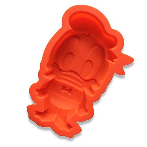 Ndier Stampo in Silicone Stampi Muffin 3D Donald Duck per Dolci, Cottura, Mini Torta, Cupcake, Cioccolato, Ghiaccio, ecc