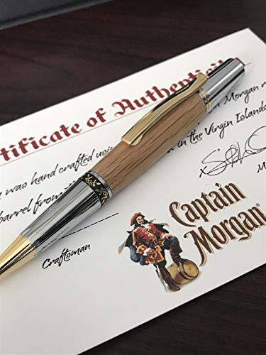 Authentic Captain Morgan Rum Barrel Ballpoint Pen With COA And Presentation Box