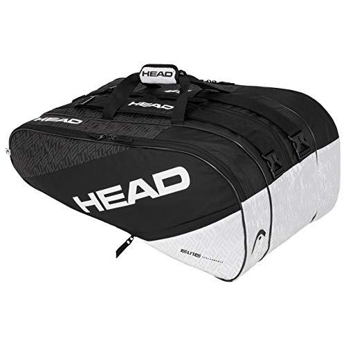 Head Elite 12R Monstercombi Bolsa de Tenis, Adultos Unisex, Negro/Blanco
