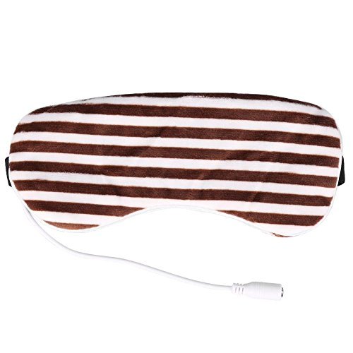 Electric USB Heated Eye mask, Heating Steam Eyeshade Lavender Eye Mask...