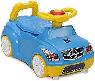 Orinal Moni 2 en 1 volante de coche azul, ruedas, bocina,