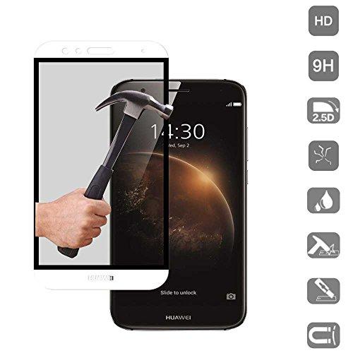 Protector de Cristal Templado Compatible con Huawei GX8 Blanco 3D Completo Cubre...