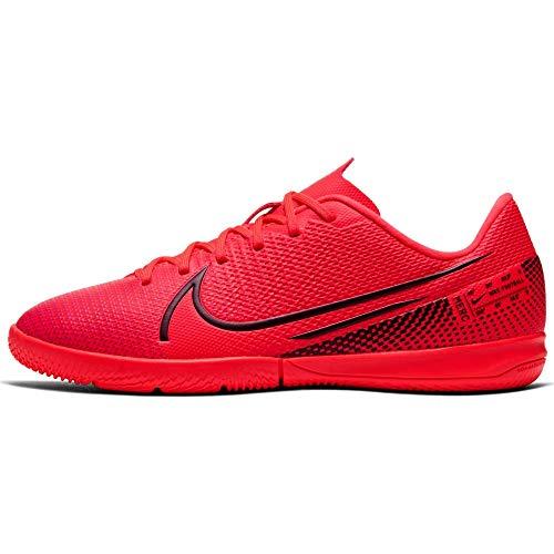 Nike Vapor 13 Academy IC, Zapatos de fútbol (IN), Laser Crimson/Black-Laser Crim, 31.5 EU