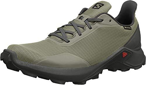 Salomon Men's Alphacross GTX Trail Running Shoes, Castor Gray/Ebony/Black, 11.5