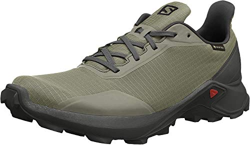 SALOMON Alphacross GTX, Zapatillas de Trail Running para Hombre, Verde (Castor Gray/Ebony/Black), 44 EU