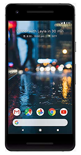 Google Pixel 2 64 GB Unlocked Smartphone for All GSM Carriers Worldwide, Just Black (Renewed)