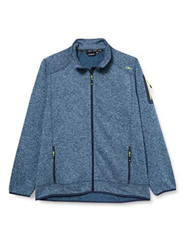 CMP Herren Knit Tech mélange Fleece Jacket Jacke, Blue Pluto-Energy, 52