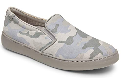 Vionic Women's Pro Mahoney Avery Slip-on - Ladies Water Resistant and Slip Resistant Service Shoes with Concealed Orthotic Arch Support Camo Grey 8.5 Medium