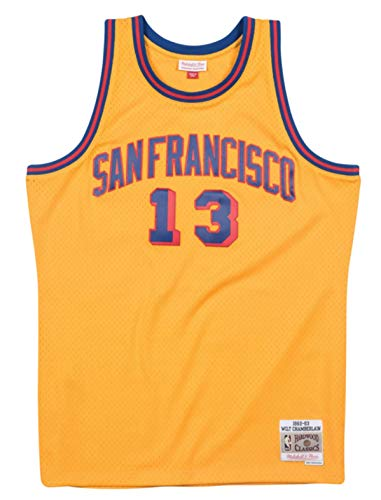 Wilt Chamberlain San Francisco Warriors Men's 1962-63 Swingman Jersey (3X-Large) Yellow