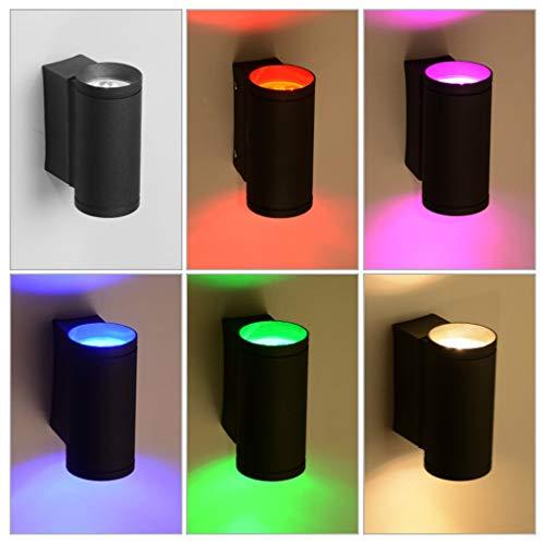 Wandlamp, club-verlichting, hotel, 6 W, aluminium, led, boven en onder, rood, blauw, groen, kleurrijk