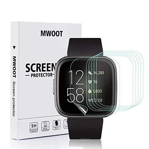 MWOOT 6er Set Schutzfolie für Fitbit Versa 2 Smartwatch, HD Kratzfeste Displayschutzfolie für Bildschirmschutz