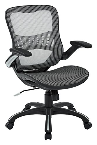 Office Star Mesh Back & Seat, 2-to-1 Synchro & Lumbar...