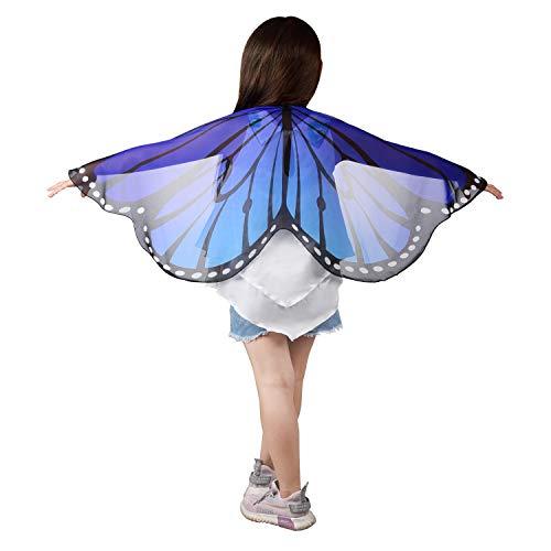 ReliBeauty Alas de Mariposa Disfraz niña Carnaval,Azul
