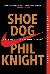 shoe dog black book cover red nike