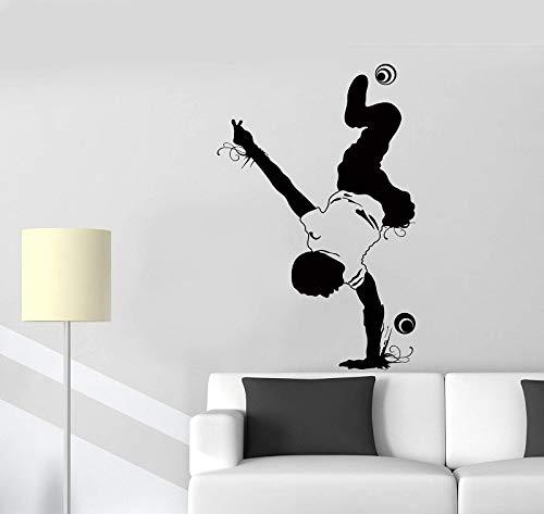BLOUR Calcomanía de Pared de Baile Callejero, decoración de Baile Juvenil, Bailarina callejera, calcomanías de Vinilo para Acrobacias Juveniles, decoración de la habitación del hogar del niño TW26