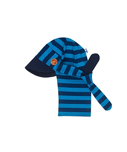 Finkid Fakiiri Gestreift-Blau, Kinder Mütze, Größe 46 - Farbe Poseidon - Mosaic