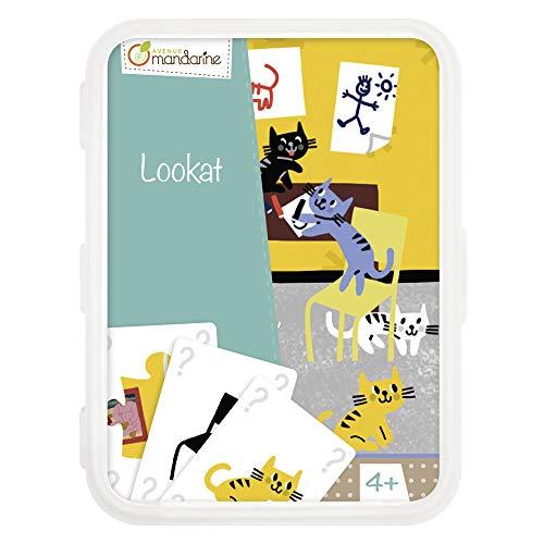Avenue Mandarine CO104O - Un jeu de 50 cartes Lookat en boite plastique refermable