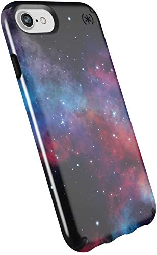 Speck Products Presidio Inked for iPhone SE 2020 Case, iPhone 8 / iPhone 7/ iPhone 6S - Non-Retail Packaging - Milkyway Black Glossy/Black