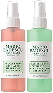 Mario Badescu Facial Spray with Rosewater & Facial Spray with Green Tea Duo
