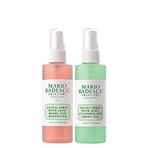 Mario Badescu Facial Spray Herbs/Rosewater and Cucumber/Green Tea, 4 Fl Oz (Pack of 2) 1