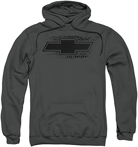 Chevrolet Bowtie Burnout Unisex Adult Pull Over Hoodie for Men and Women Large Charcoal product image