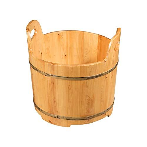 Foot Bath Barrel, Solid Wood Foot Bath Barrel, Foot Bath, Pedicure Basin, Foot Massage Basin, Household, Hotel, 41 * 25cm,Foot Massagers