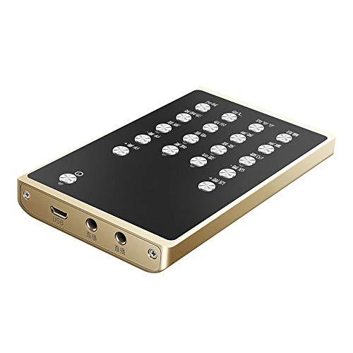 MMFXUE Tarjeta de Sonido Externa, Consola de Mezclas de Tarjeta de Sonido Externa portátil, con computadoras Xbox para Cantar en Vivo la grabación de música