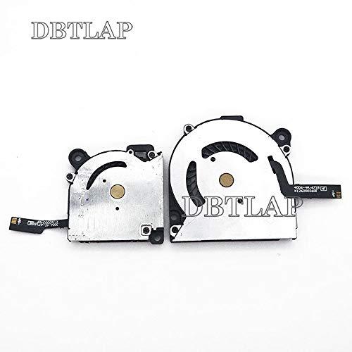 DBTLAP CPU + GPU Ventilatore Compatibili per Acer Aspire S7 S7-391 S7-392 Series 30mm + 40mm Raffreddamento Ventilatore