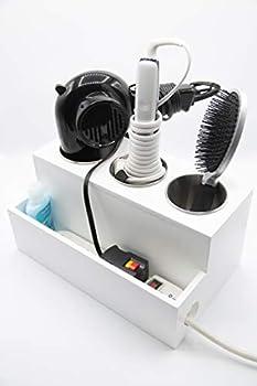 Hair Dryer Holder Curling Iron Holder Vanity countertop Hair Care & Styling Tool Storage Organizer