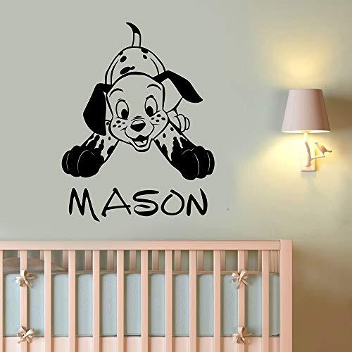 Etiqueta de la pared de dibujos animados perro arte niños dormitorio guardería tienda de mascotas decoración