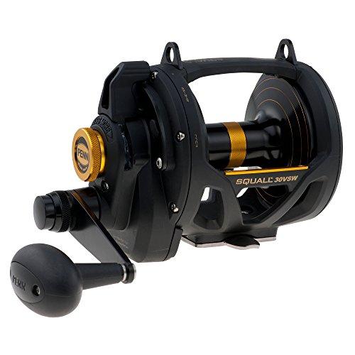 Penn 1292938 Squall Lever Drag 2-Speed Trolling Fishing Reel, 890/50