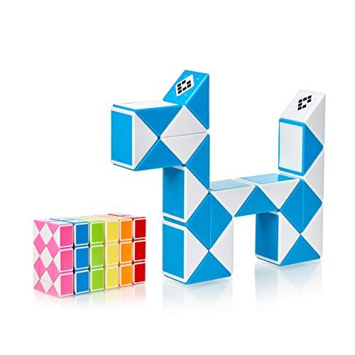 CUBIDI Serpiente mágica con Bloques, Juegos de Rompecabezas, cumpleaños, pequeños obsequios para Unisex Adultos Azul 24