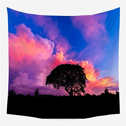 Bosque árboles tapiz tapices de pared decoración psicodélica hojas de tela de pared hippie bohemio tela de fondo para el hogar A1 130x150cm