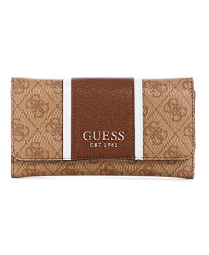 GUESS womens Wallet, wallet clutch, Brown, One Size US
