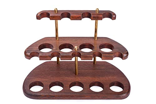 Dr. Watson - Wooden Tobacco Pipe Stand - Arch IX - for 9 Tobacco Smoking Pipes, Handmade from Solid Wood