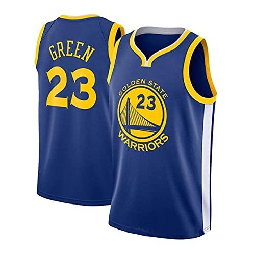 EJKDF Gréeń No. 23 Jersey, Wárriórs Basketball Jersey, Calle para Hombre y Mujer Tendencia al Aire Libre Camiseta sin Mangas Top Transpirable Top Sportswear Blue-M