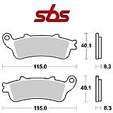Compatible con Honda FJS Silver Wing ABS (PF01B) 600 2003-2010 pastiglia Freno anteriore Pastillas DE Freno SBS 735HS...