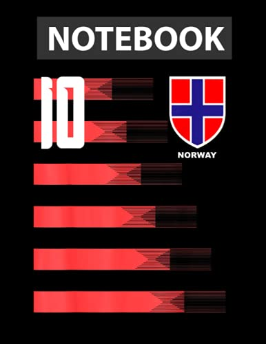Norway Futtboll Soccer Norge Flag Jersey Notebook / 130 pages / US Letter Size